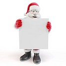 3d man santa with blank list