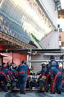 Jean_Eric Vergne FRA, Scuderia Toro Rosso pit stop _ Formula 1 Testing, day 1 _ Formula 1 World Championship ,F1,Testing Barcelona, Spain ,Barcelona .