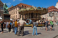 Strasbourg, Gutenberg square, UNESCO world heritage site, Place Gutenberg, Alsace, Bas Rhin, France, Europe.