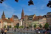 Strasbourg, Kleber square, UNESCO world heritage site, Place Kleber, Alsace, Bas Rhin, France, Europe.