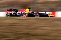 Mark Webber AUS, Red Bull Racing, RB8 ,F1,Testing Barcelona, Spain ,Barcelona .