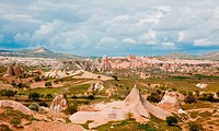 Beautiful spring landscape at Capadochia, Goreme National Historical Park, in Tu