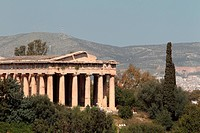 A view of the Parthenon in Athens.