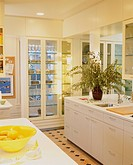 Built_in China Cabinets in Contemporary Kitchen