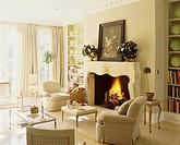 Light Beige Furnishings in Sunny Living Room