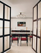 Open Doors to Dining Room