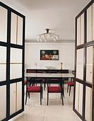 Open Doors to Dining Room