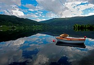 Rowboats and Lake in Norway
