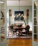 Dining room with hardwood floor