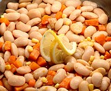 Boiled beans salad