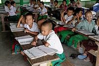Primary school  Thet Kel Kyin village  Indaw area  Sagaing Division  Burma  Republic of the Union of Myanmar.