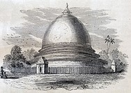 Pagoda bell-shaped  Trip to the Kingdom of Ava, the Burmese Empire, travel of Captain Henry Yule, Corps of Engineers Bengalis, 1855  Burma  Republic o...