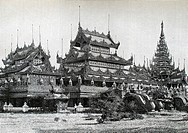 Palace of the queen Sophia-Lat in the royal city of Mandalay  Fifteen days in Burma, Travel of M  E  Cavaglion, 1892  Burma  Republic of the Union of ...