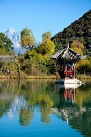 Pagoda inside Lijiang´s Black Dragon Pool park, China