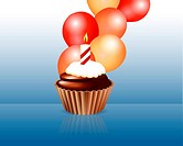 Birthday cupcake Greeting card