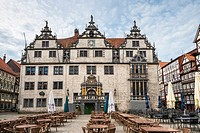 City hall in Hannoversch Muenden on the German Fairy Tale Route, Lower Saxony, Germany, Europe
