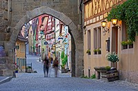 Rothenburg ob der Tauber, Romantic Road, Romantische Strasse, Franconia, Bavaria, Germany, Europe