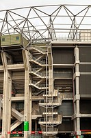 external pedestrian stairways to Twickenham stadium