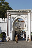 Gates to Medina, old city, Tangier, Tanger, Morocco.