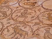 Old Roman mosaic floor