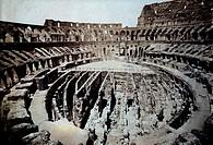 Colosseum Interior, Rome, Italy, Circa 1880, Albumen Photograph