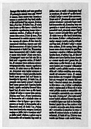 A Page from Gutenberg's 42_Line Bible, Origally Printed in 1455