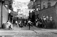 Children Playing Ball in Tenement Alley, Boston, Massachusetts, USA, Circa 1909