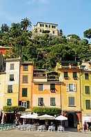 Harbor of the village of Portofino, Riviera, Liguria, Italy, Europe