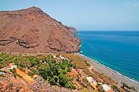 El Cabrito beach in La Gomera island