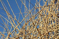 25 Nov 2012 Big Bambu Art Installation by Mike and Doug Starn at MACRO Museum Testaccio Rome Italy