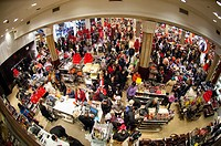 Shoppers in the Macy´s Herald Square flagship store in New York looking for bargains on Black Friday, the day after Thanksgiving Many retailers opened...