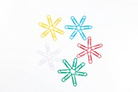 paperclip´s in the shape of snowflakes