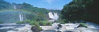 Panoramic view of Iguazu Waterfalls in Parque Nacional Iguazu, Salto Maria to Argentina