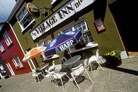 Street side dining table, Ardgroom Village, Cork, Ireland
