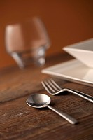 Close_up of silverware , on the dining table.