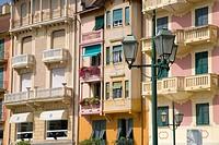 Colorful buildings of Santa Margarita, the Italian Riviera, on the Mediterranean Sea, Italy, Europe