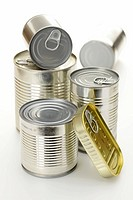 Various tinned food