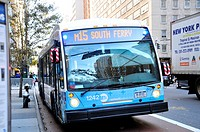 New York City Public Transportation M15 Bus, Manhattan, New York City, USA