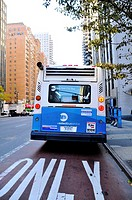 New York City Public Transportation M15 Select Bus, Manhattan, New York City, USA