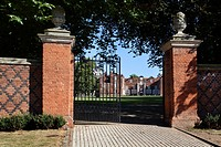 Entrance Gate to Christchurch Park Ipswich Suffolk England