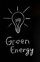 Light bulb,green energy