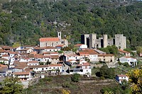 Overview of Montemayor del Río, a small village declarated Historical-Artistic Site in Sierra de Béjar, Salamanca province  Castilla y León  Spain