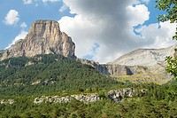 Tozal del Mallo in Ordesa Valley, declarated World Heritage by UNESCO, and belonging to Ordesa y Monte Perdido National Park  Pyrenees  Torla  Huesca ...