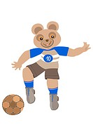 Teddy_bear playing football