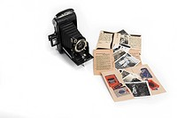 Nostalgic Photographs and roll film camera
