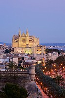 Mallorca Cathedral XIII-XX century and Sant Pere Baluard Palma Mallorca Balearic Islands Spain