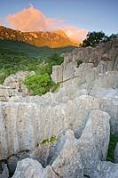 Karstic rocks Escorca Sierra de Tramuntana LLuc Mallorca Balearic Islands Spain