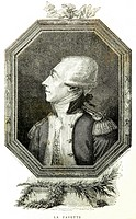 Portrait of the famous general Gilbert du Motier Marquis de La Fayette 1757-1834