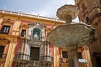 Episcopal Palace and Cathedral, Malaga, Andalusia, Spain.