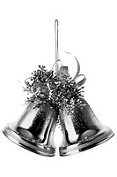 Silver bells Christmas tree decorations